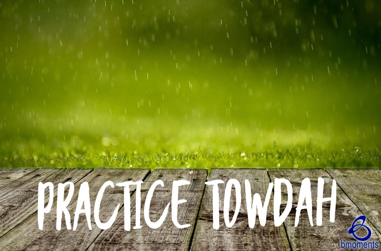 Practice Towdah: Praise God for Future Blessings